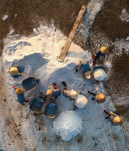 làng làm muối Ninh Diêm Hòn Khói