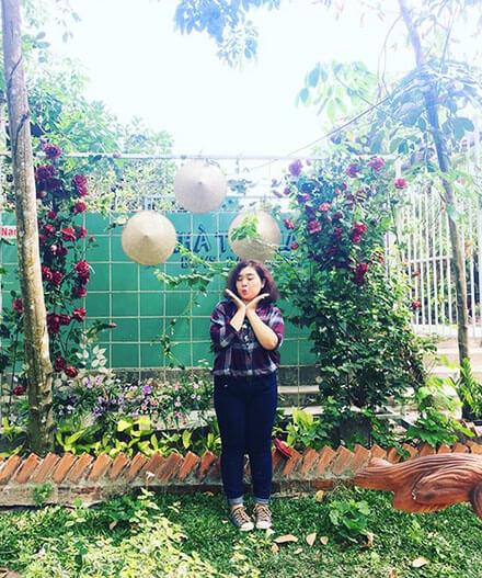 nông trại hoa lúa Củ Chi